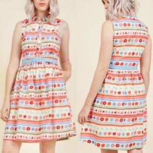 ModCloth Fits The Function Shirt Dress Stripes S